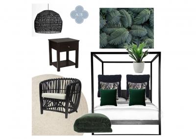 Amanda Smythe Interior Stylist eDesign Mood Board Bahamas Bedroom