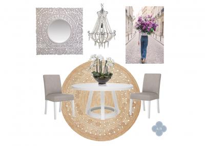 Amanda Smythe Interior Stylist eDesign Mood Board Boho Dining
