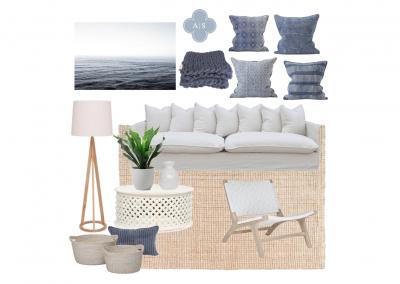 Amanda Smythe Interior Stylist eDesign Mood Board Coastal Lounge