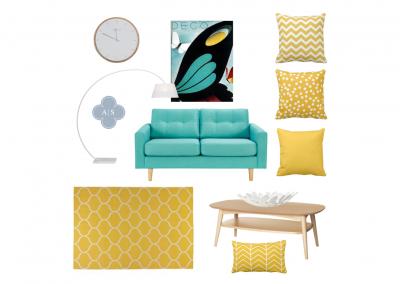 Amanda Smythe Interior Stylist eDesign Mood Board Retro Lounge