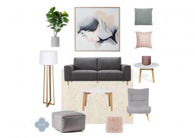 Amanda Smythe Interior Stylist eDesign Mood Board Scandi Lounge