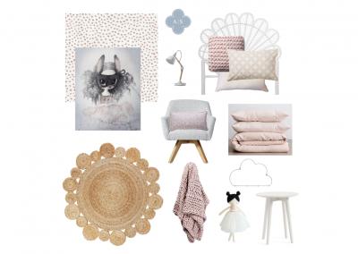 Amanda Smythe Interior Stylist eDesign Mood Board Girls Bedroom