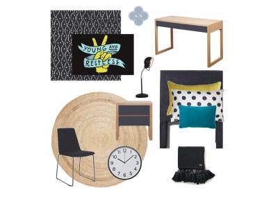 Amanda Smythe Interior Stylist eDesign Mood Board Tween Boys Bedroom